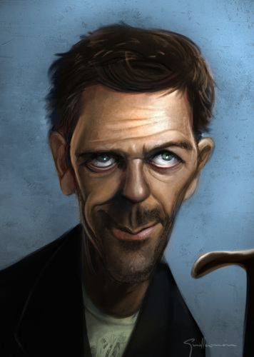 Cartoon: Hugh Laurie (medium) by Guillamon tagged house,television,serie,show