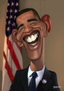 Cartoon: Barack Obama (small) by Guillamon tagged obama,spain,president,politic,america