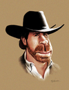 Cartoon: Chuck Norris (small) by Guillamon tagged chuck,norris,caricature,television