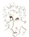 Cartoon: Bob Dylan (small) by cabap tagged caricature