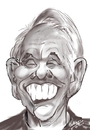 Cartoon: Johnny Carson (small) by cabap tagged caricature