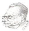 Cartoon: Larry King (small) by cabap tagged caricature