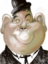 Cartoon: Oliver Hardy (small) by cabap tagged caricature,ipad