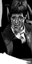 Cartoon: the world is yours (small) by szomorab tagged pacino,scarface,caricature