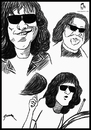 Cartoon: Tommy Ramone (small) by szomorab tagged tommy,ramone,ramones,punk,poster,caricature