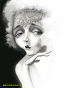 Cartoon: Mae Murray (small) by tobo tagged caricature