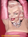 Cartoon: Marilyn Monroe (small) by tobo tagged marilyn,monroe,caricature