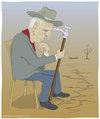 Cartoon: Cane (small) by Wilmarx tagged water,ecology,thinker