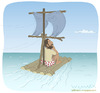 Cartoon: Castaway (small) by Wilmarx tagged desert island