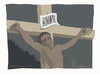 Cartoon: Cross bar code (small) by Wilmarx tagged barcode poverty