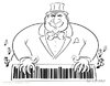 Cartoon: Musical Capitalism (small) by Wilmarx tagged capitalism barcode