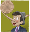 Cartoon: Spiral of lies (small) by Wilmarx tagged behavior pinocchio