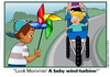 Cartoon: The Baby Wind Turbine (small) by carol-simpson tagged wind,turbines,sustainable,energy