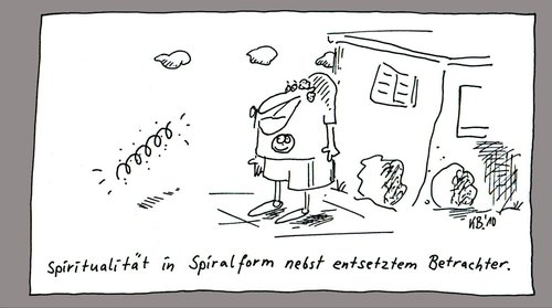 Cartoon: Form (medium) by Leichnam tagged form,spirale,spirituell,entsetzt,betrachter,phänomen,philosophie