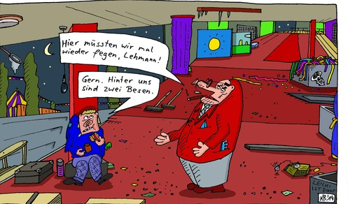 Cartoon: Lehmann (medium) by Leichnam tagged lehmann,fegen,kehren,besen,boss,chef,untergebener