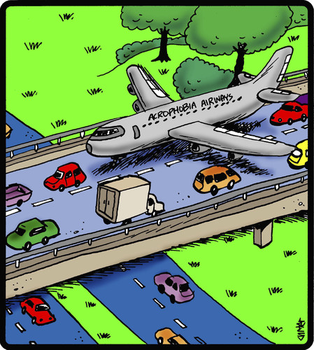 Cartoon: Acrophobia Airways (medium) by cartertoons tagged airplanes,travel,flying,phobias,transportation,acrophobia,driving,cars,airplanes,travel,flying,phobias,transportation,acrophobia,driving,cars