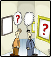 Cartoon: Art Question (small) by cartertoons tagged art,museum,paintings,questions,conceptual,thoughts