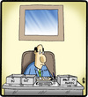 Cartoon: Back In Again (small) by cartertoons tagged business,office,desk,managers,work,companies,corporations,trays