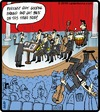 Cartoon: Orchestra crowd surfing (small) by cartertoons tagged orchestra music crowd surf audience stage