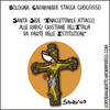 Cartoon: Crucifisso Blasfemo (small) by sdrummelo tagged crucifix,croce,religione,cattolica