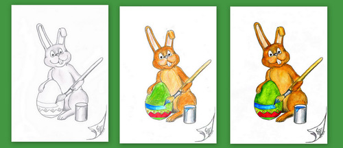 Cartoon: Osterhase (medium) by swenson tagged easter,bunny,ostern,hase,osterhase