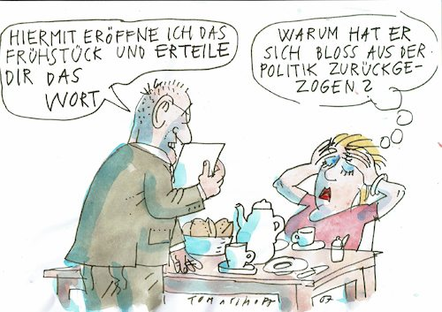 Cartoon: Expolitiker (medium) by Jan Tomaschoff tagged politik,sprache,politik,sprache