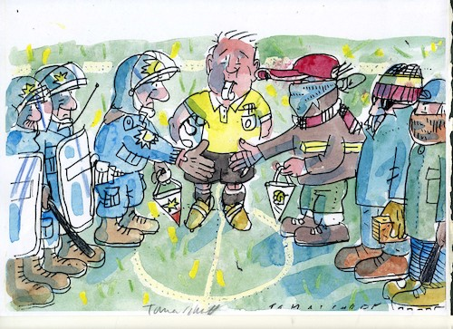 Cartoon: Fussball2 (medium) by Jan Tomaschoff tagged fussball,fussball