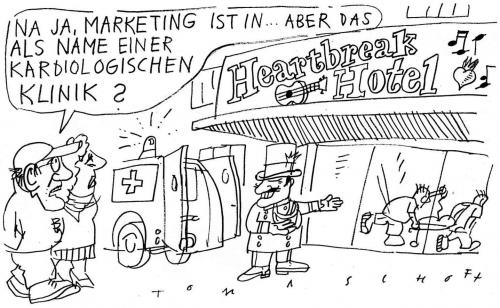 Cartoon: Heartbreak Hotel (medium) by Jan Tomaschoff tagged gesundheitsreform,krankenkassen,generationen,alterspyramide,lebenserwartung