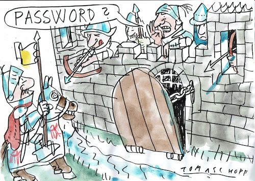 Cartoon: password (medium) by Jan Tomaschoff tagged computer,internet,computer,internet