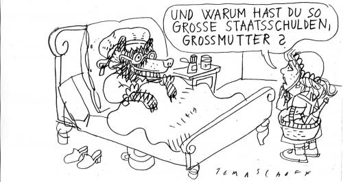 Cartoon: Staatsschulden (medium) by Jan Tomaschoff tagged staatsschulden