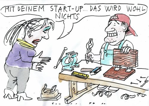 Cartoon: start up (medium) by Jan Tomaschoff tagged leptop,pc,start,up,leptop,pc,start,up