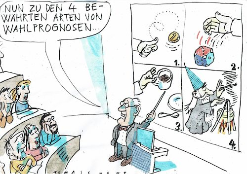 Cartoon: Wahlprognosen (medium) by Jan Tomaschoff tagged wahlen,meinungsforschung,wahlen,meinungsforschung