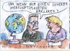 Cartoon: Herkunftsplanet (small) by Jan Tomaschoff tagged migration,flucht,integration