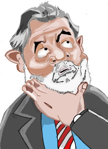 Cartoon: Presidente Lula (medium) by MRDias tagged caricature,cartoon