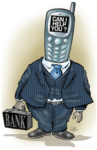 Cartoon: ebanking (medium) by Damien Glez tagged banking,economy,bank,money,banking,economy,bank,money