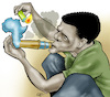 Cartoon: Drugs in Africa (small) by Damien Glez tagged drug,africa,marijuana,cocaine,trafficking,trafficker