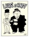 Cartoon: Laurel  and Hardy (small) by Damien Glez tagged laurel,and,hardy,cinema