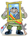 Cartoon: Military or not ? (small) by Damien Glez tagged power,pustch,military,coup,politician