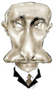 Cartoon: Vladimir Putin (small) by Damien Glez tagged vladimir,putin,poutine,russia