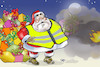 Cartoon: Yellow vests in France (small) by Damien Glez tagged france,christmas,yellow,vests,macron