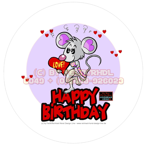 Cartoon: Cartoon Verpackungs Design (medium) by FeliXfromAC tagged birthday,happy,lila,lovecrazy,leo,animal,tier,musik,music,maus,love,liebe,mice,mouse,package,kuchenschachtel,schachtel,verpackung,illustration,comic,cartoon,illustrator,aachen,germany,sympathiefigur,mascot,character,line,design,horst,reinhard,alias,felix