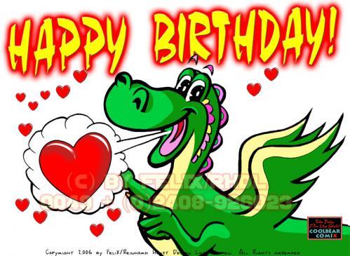 Cartoon: Happy Birthday Dragon