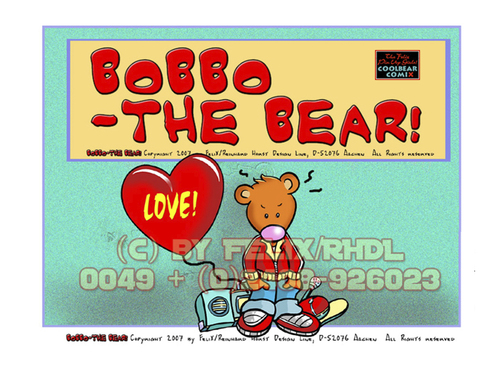 Cartoon: The Free Bobbo Cartoon eBook (medium) by FeliXfromAC tagged felix,alias,reinhard,horst,design,line,aachen,germany,nrw,mascot,maskottchen,sympathiefigur,character,love,handy,mobile,services,iphone,comics,cartoons,tier,bear,bär,animal,animals,ruf,an,call,me,background,wallpaper,illustration,illustrator