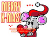 Cartoon: FeliX Wishes A Merry X-Mas! (small) by FeliXfromAC tagged felix,alias,reinhard,horst,design,line,merry,xmas,christmas,frohes,fest,frohe,weihnachten,illustration,illustrator,maus,aachen,nrw,germany,liebe,love,grüsse,greetings,tier,animal,weihnachtskarte