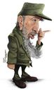 Cartoon: Fidel Castro (small) by Tiaggo Gomes tagged fidel,castro,caricature,tiaggo