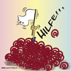 Cartoon: Sich der Technik beugen (small) by Jutta Lehmann tagged mail,internet,homepage,googeln