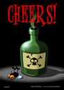 Cartoon: Cheers! (small) by volkertoons tagged volkertoons,cartoon,comic,karte,grußkarte,postkarte,gereeting,card,fliege,flie,gift,poison,prost,cheers,lustig,humor,spaß,fun,funny
