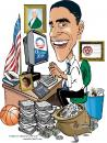 Cartoon: Pres. Barack Obama working it! (small) by caricaturekerry tagged president barack obama kerry johnson caricature politics usa political