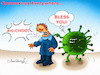 Cartoon: Coronavirus Everywhere (small) by halisdokgoz tagged coronavirus,everywhere