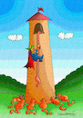 Cartoon: RAPUNZEL AND CATS (small) by halisdokgoz tagged rapunzel,and,cats